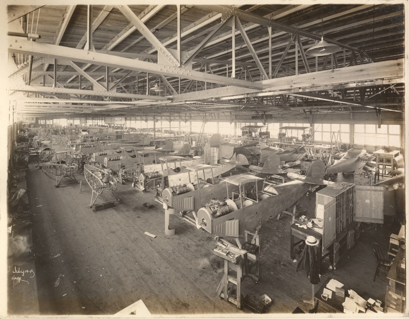 Final Assembly, Flying boats in background - N.J. training machines in foreground [11].jpg
