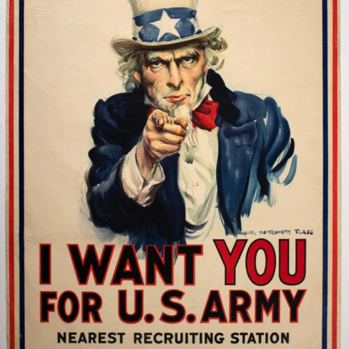 I want you for U.S. Army. Nearest recruiting station.