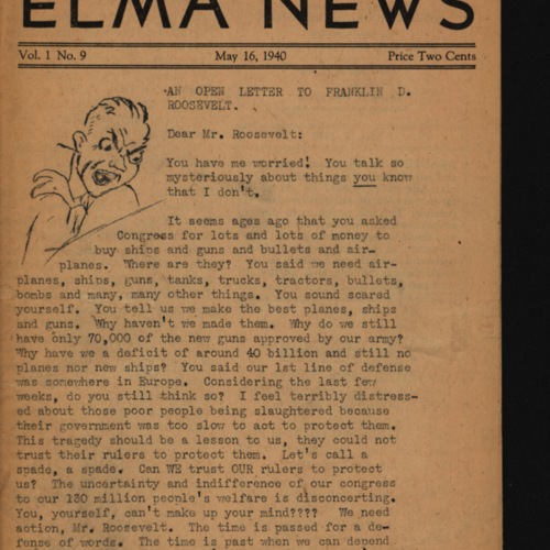 Elma News : May 16, 1940
