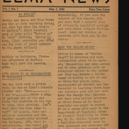 Elma News : May 2, 1940