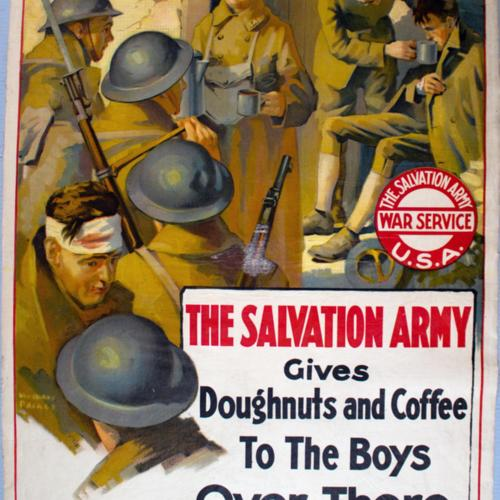 The Salvation Army gives Doughnuts and Coffee To The Boys Over There