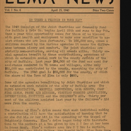 Elma News : April 25, 1940