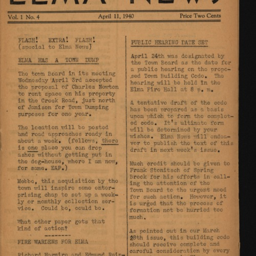 Elma News : April 11, 1940