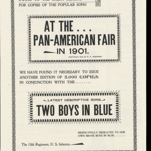 At the Pan-American Fair in 1901; Two Boys in Blue